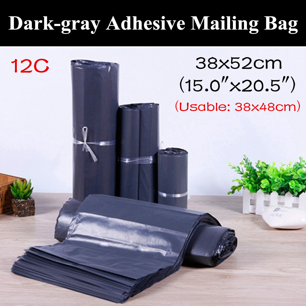 50pcs 38x52cm 15 x20 5 Dark gray Self Adhesive Courier Bag Envelope Shipping Bag Tear Resistance