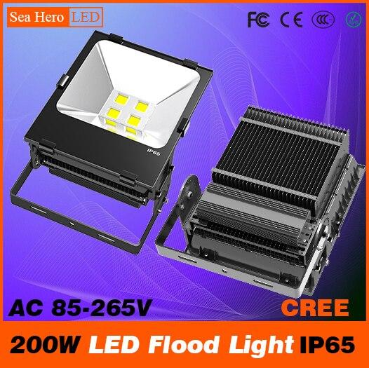 Éclairage industriel professionnel de lampe de cloison de lumière d'inondation de 200 W LED 104-105degree IP65 ca 85-265 V Cree puces COB ou 2835