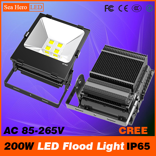 200W LED Flood light Bulkhead lamp Professional Industrial lighting 104-105degree IP65 AC 85-265V Cree chips COB or 2835 ultrathin led flood light 200w ac85 265v waterproof ip65 floodlight spotlight outdoor lighting free shipping