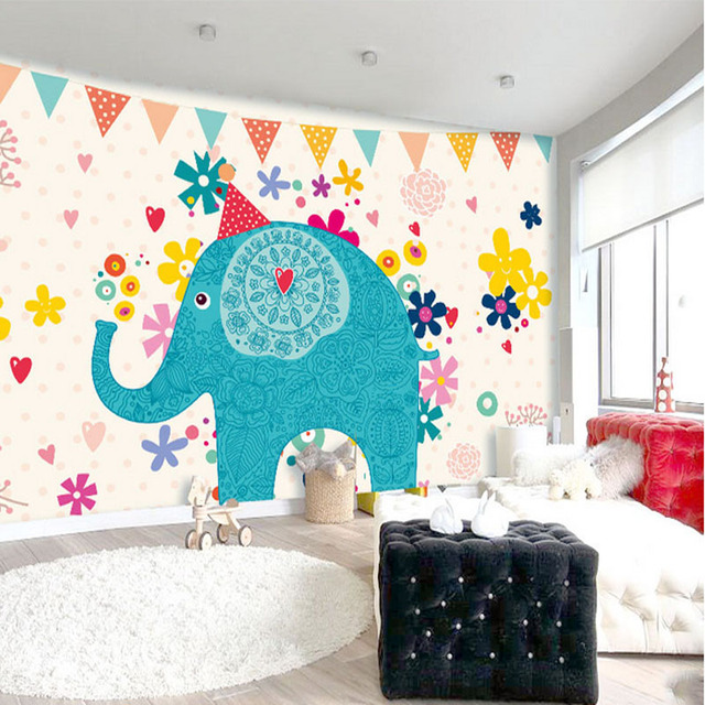Download elephant wallpaper for walls gallery for Elephant mural nursery