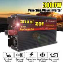 Intelligent 3000W Pure Sine Wave Inverter DC 12/24/48/60/72V TO AC 220V 50Hz Power Converter LCD Display(China)