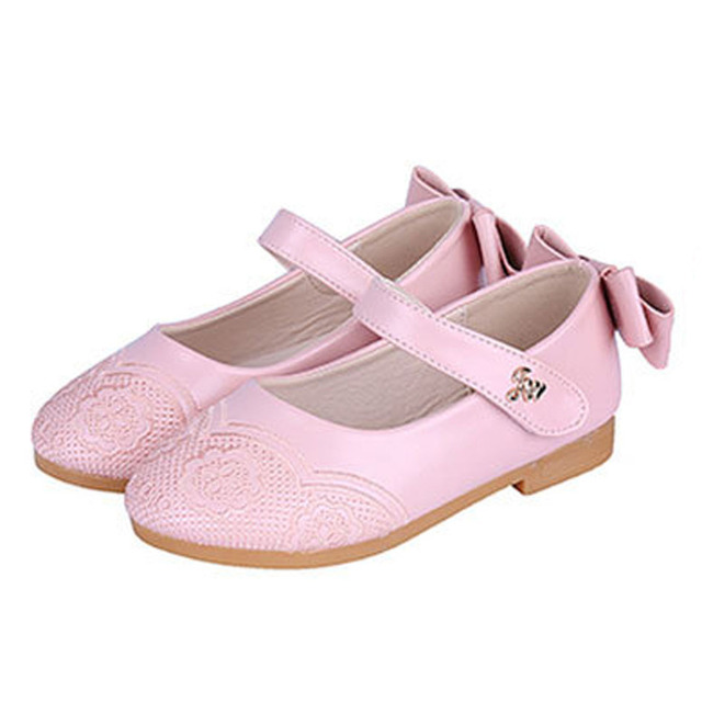 2017 Autumn Girls Shoes With Embroidery Flowers Ankle Strap Kids Girls Shoes Bow at Back Princessl Shoes Childen's Ballet Flats