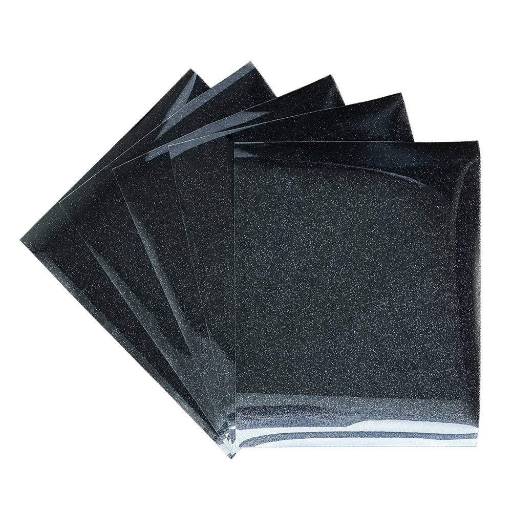 Glitter Heat Transfer Vinyl 5 Sheets 10 12 Inch Iron On