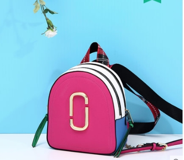 Princess sweet lolita bag Candy color is small and fresh Korean fashion color matching backpack double zipper students DLM008 400 have 24 colours wholesale korean fashion pu zipper primary and secondary school students backpack 20171201