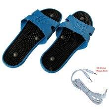 Электрод Массажная обувь массажные тапочки для ног физиотерапия тапочки для ног Акупунктура инструмент стимулятор мышц тапочки для женщин