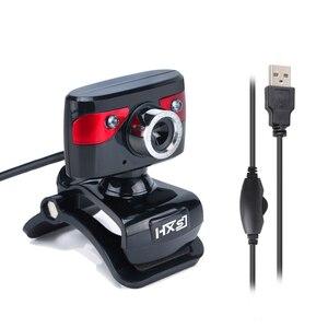 Image 3 - HXSJ USB Della Macchina Fotografica WebCam Web Camera con Microfono per il Computer di Visione Notturna di Sostegno per il Computer Portatile Desktop Skype