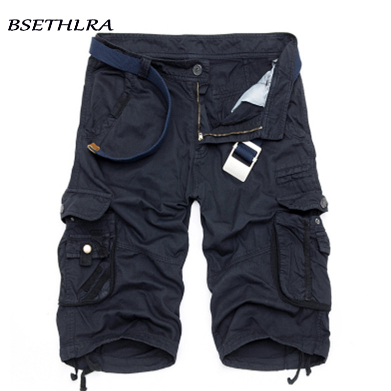 цены BSETHLRA 2018 New Shorts Men Summer Hot Sale Work Short Pants Camouflage Military Brand Clothing Fashion Mens Cargo Shorts 29-40