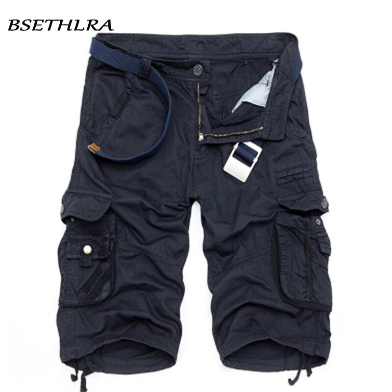 BSETHLRA 2019 nuevos pantalones cortos de los hombres de verano Venta caliente trabajo pantalones cortos de camuflaje militar de la marca de moda de ropa para Hombre Pantalones cortos de carga 29 -40