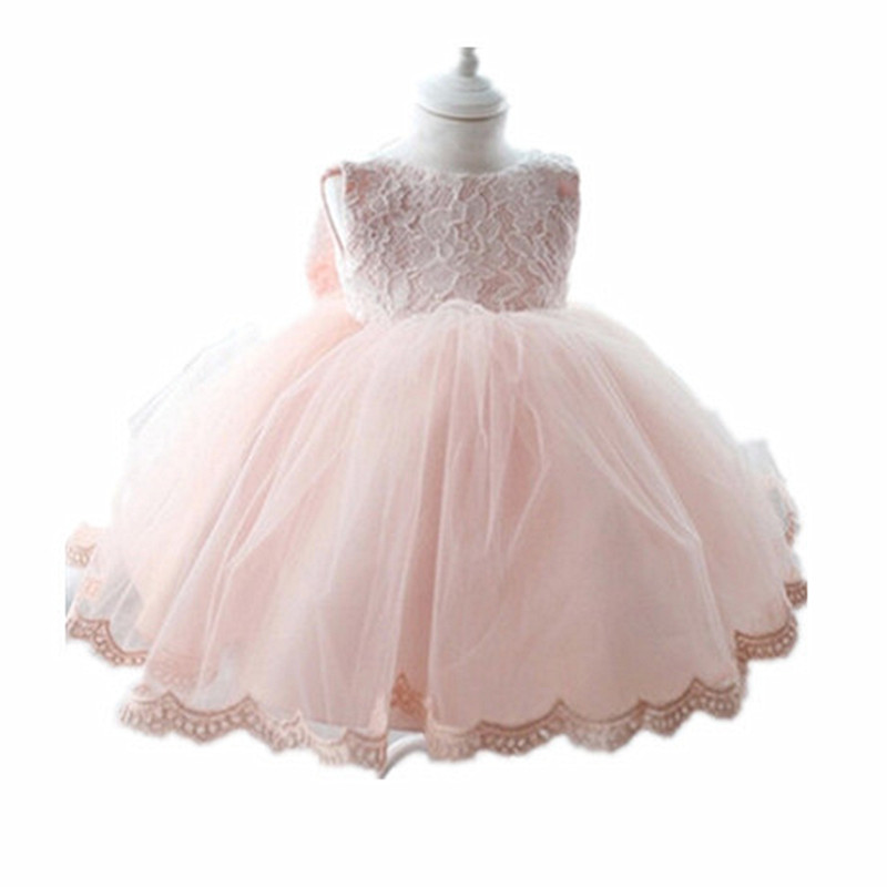 BBWOWLIN White Pink Baby Clothes Formal Gowns Girls