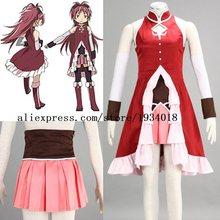 Fantasia personalizada puella magi madoka, fantasia cosplay de kyoko, roupas de anime para halloween