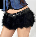New 2016 PU Leather Faux Shorts Women Hot Fashion Faux Fur Low Waist Shorts Autumn Nightclub Fashion Clubwear Short Trousers