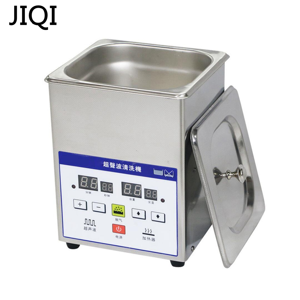 JIQI Ultrasonic Cleaner Elétrica 2L Aço Inoxidável Ultrasonic Cleaner Bath Digital Ultrasound Onda Tanque De Limpeza 110 V/220 V