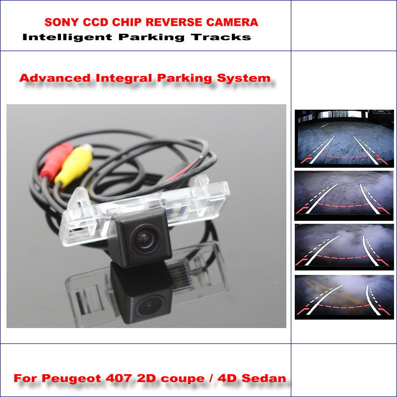 Dynamic Guidance Rear Camera For <font><b>Peugeot</b></font> <font><b>407</b></font> 2D <font><b>coupe</b></font> / 4D Sedan / 580 TV Lines HD 860 * 576 Pixels Parking Intelligentized image