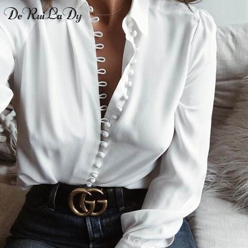 Silk White Blouse Long Sleeve