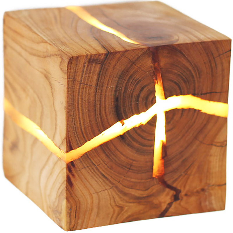 New fashion modern Creative LED solid wood bedside aisle decorating small wall lamp