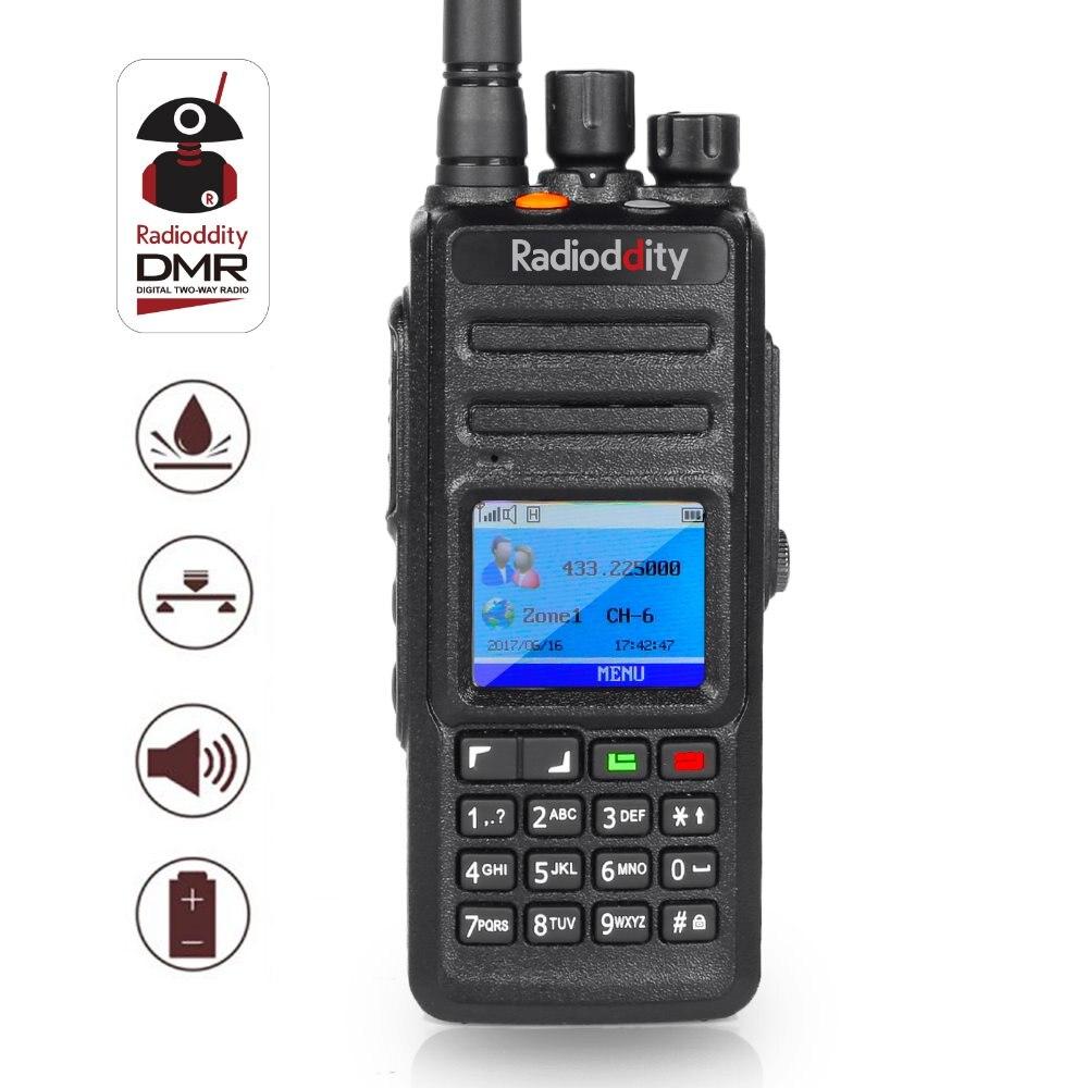 Radioddity GD-55 Plus Waterproof  Walkie Talkie DMR Radio Ham Radio 2800mAh Programming Cable 2 Antennas