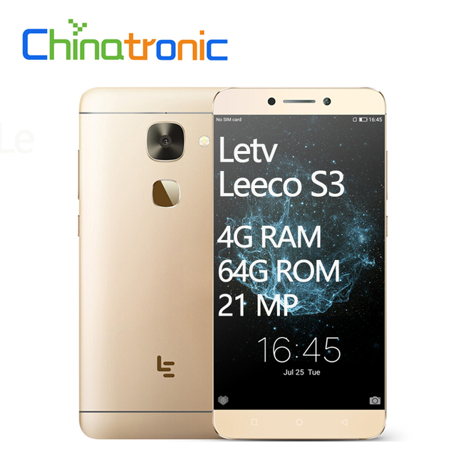 """Новый оригинальный LeEco Le S3 Letv X626 4G RAM 64g ROM Android 6,0 мобильный телефон fdd, LTE Дека Core Dual SIM 5,5 """"FHD 21 м отпечатков пальцев"""