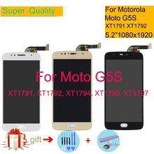 "5.2"" For Motorola Moto G5S LCD Display Touch Screen Digitizer Sensor Complete LCD Assembly XT1791 XT1792 XT1794 XT1795 XT1797"