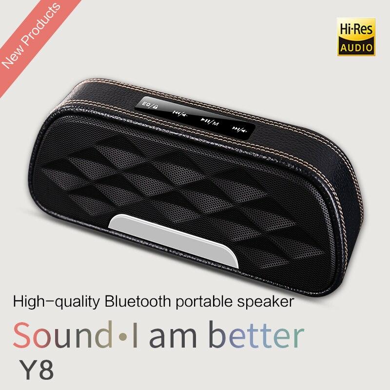 ZHIYIKE Y8 cuir sans fil Bluetooth haut-parleur Portable basse 360 degrés Surround son stéréo haut-parleur extérieur tissu Art
