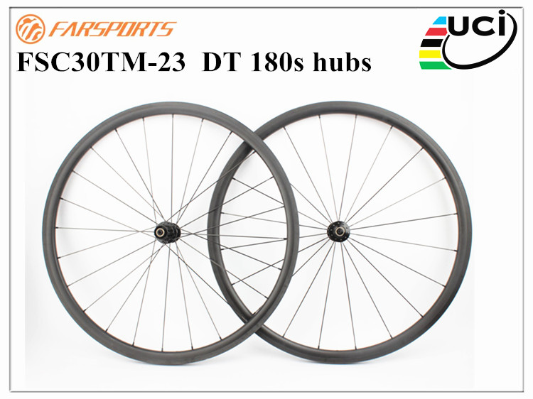 Top end DT wheels ! Farsports road wheels with DT 180s hubs & Sapim cx-ray , FSC30TM-23 road bike wheels with best performance mountain bike four perlin disc hubs 32 holes high quality lightweight flexible rotation bicycle hubs bzh002