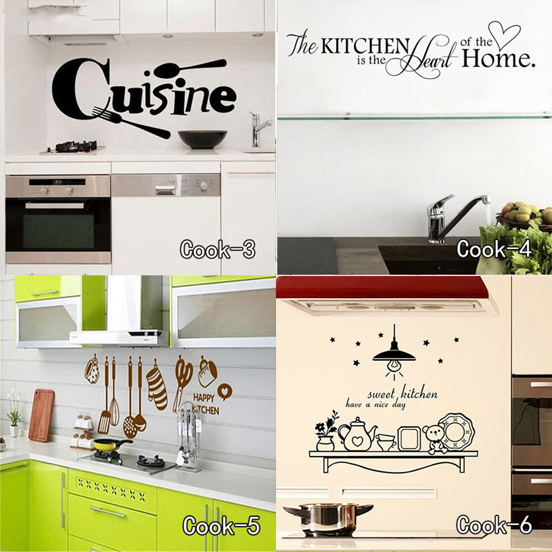 Enjoy Cooking Time Vinyl Decal Kitchen Decorative Art Vinyl Removable Kitchen Wall Sticker Cuisine Home Decor Free Shipping