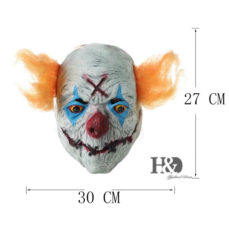 H&D Halloween Creepy Clown Mask- ը դեղին մազերով - Տոնական պարագաներ - Լուսանկար 6