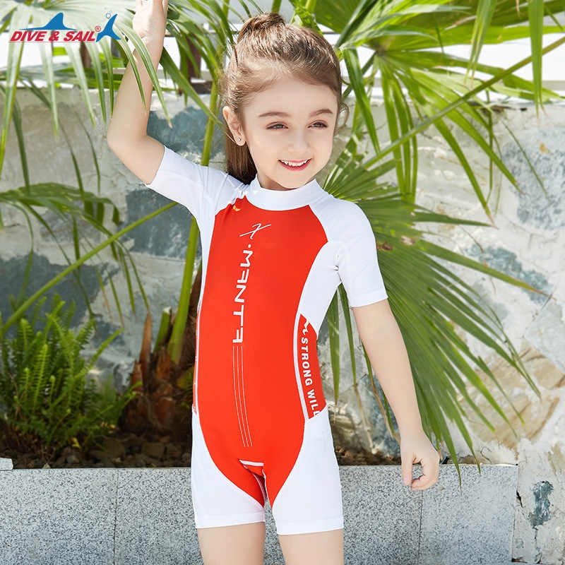 5dd2201da7 ... New Professional Swimsuit Children baby girl Kid One-Piece Swimming Suit  Sports Racing Swimwear boys ...
