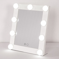 설계 광장 메이크업 거울 조절 전구 램프 휴대용 아름다움 거울 빛 아름다움 메이크업 거울 수송