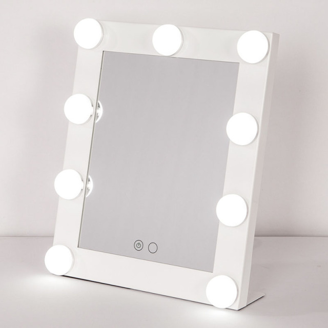 con u carr maquillage miroir avec r glable lumi re ampoule led lampe portable beaut miroir. Black Bedroom Furniture Sets. Home Design Ideas