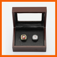 Gorgeous Ring Sets With Wooden Boxes Replica Baseball Copper High Quality 2pcs Packs Philadelphia Phillies Championship