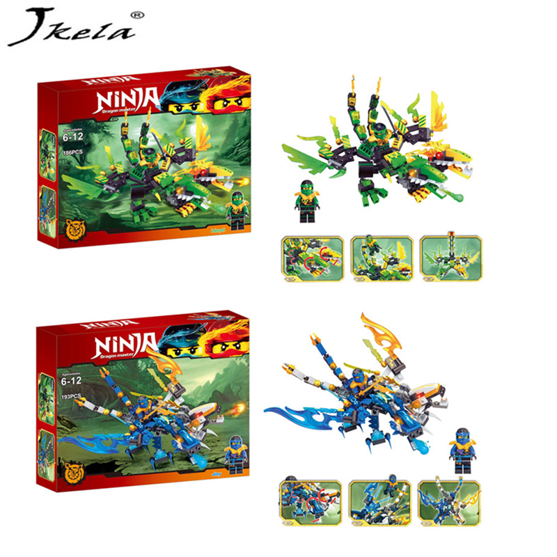 [Jkela] Ninjagoes Dragon Building Block Kai Jay Cole Zane Lloyd Wu Nya Garmadon Ninja Toys Compatible With Legoingly Ninjagoes 2018 hot ninjago building blocks toys compatible legoingly ninja master wu nya mini bricks figures for kids gifts free shipping