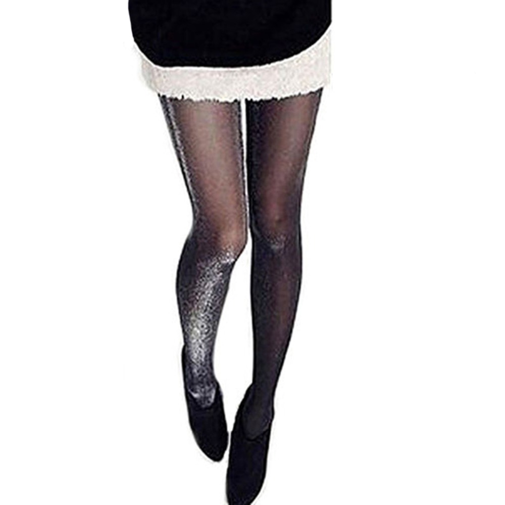 Spring Autumn Thin Leg Tights Women Compression Shiny Pantyhose Glossy Glitter Hosiery Temptation Medias
