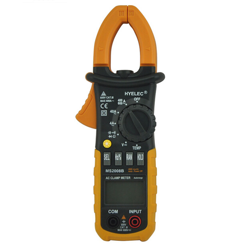 Digital AC Clamp Meter 4000 Counts w/ Back light Electrical current clamp tester multimeter MS2008B PEAKMETER mastech ms2138 ac dc digital clamp meter 1000a multimeter electrical current 4000 counts voltage tester