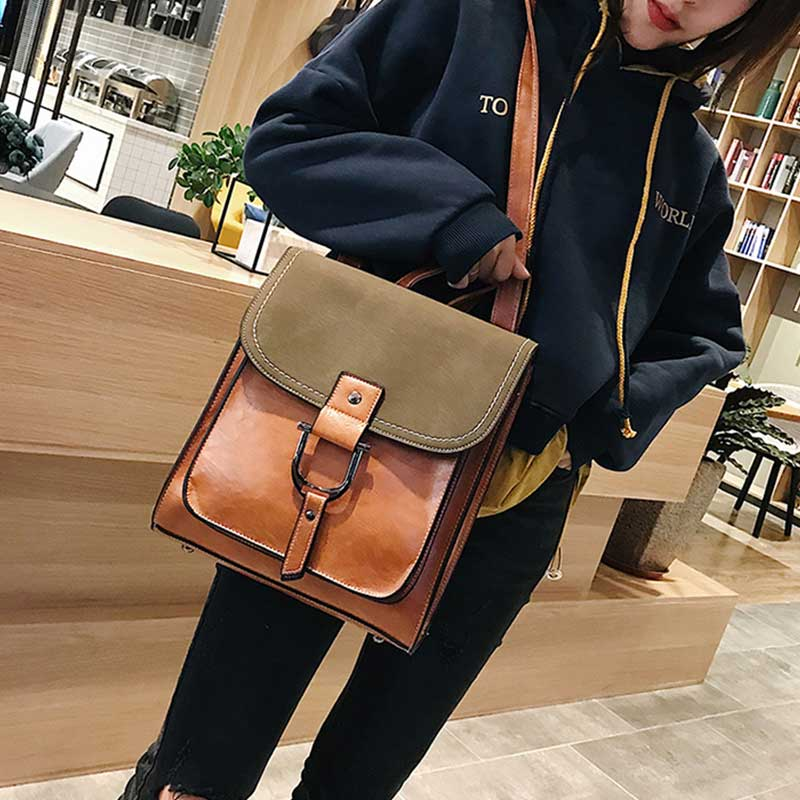 Casual Large Capacity Women Tote Shoulder Bag PU Leather Luxury Lady Handbags Messenger Bag Crossbody Bag