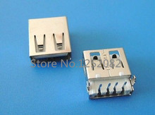 20 pcs USB Type A Female 4 Pin DIP Shen board PCB Socket Connector Ping mouth