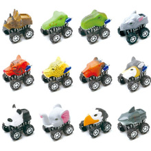 12 Pics Fashion Toys For Children Boys Girls Animal Friction Powered Car Pull Back Vehicle Mini Animal Car Toy For Gifts Kids kids collectible cute animal model dinosaur panda vehicle mini elephant bear toy truck tiger pull back car boy toys for children