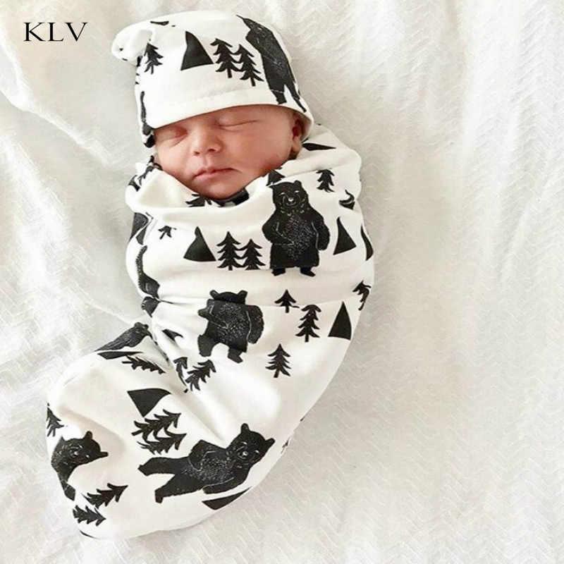 Детское Пеленальное Одеяло, шапка, конверт для новорожденных, хлопковые пеленки, Детские конверты, постельные принадлежности для сна