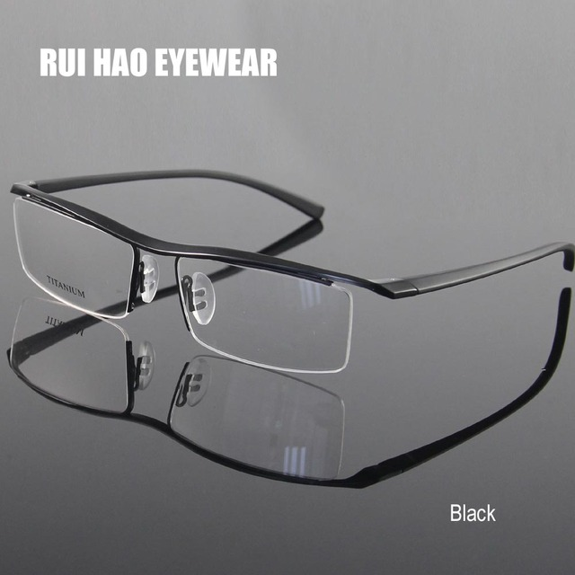 25131a3945 4 Color Prescription Eyeglasses Frames Titanium Eyeglasses Half Rimless  Spectacles Glasses Eyewear Frames Goggles oculos
