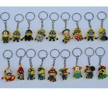Здесь можно купить   50pcs/lot 3.5CM Despicable Me Key chain Movie Anime Minion toys Figure Pendants Random Mixed Festive & Party Supplies