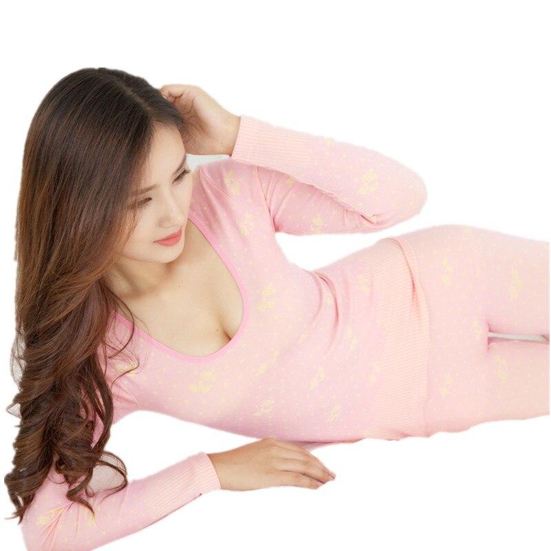Modal Jacquard Women Seamless Body Slimming Underwear Set Women's winter warm Pajamas long johns Second Thermal Female Skin