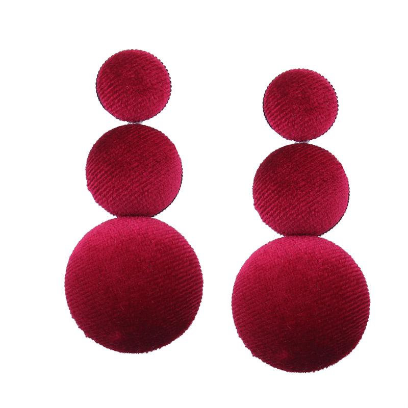 Naomy и zp Мода свисающие серьги для женщин из фланели массивные