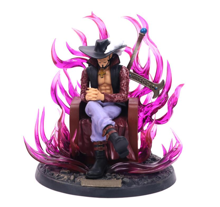 20cm Anime One Piece GK Dracule Mihawk Action Figure Collection Models Toys