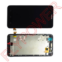 For Huawei Ascend G630 LCD Display With Digitizer Touch Screen With Frame Black By Free Shipping