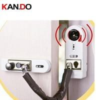 2 teile/los anti-eingangstür alarm magnetsensor drahtlose alarmanlage windows sensor alarm mit schloss funktion