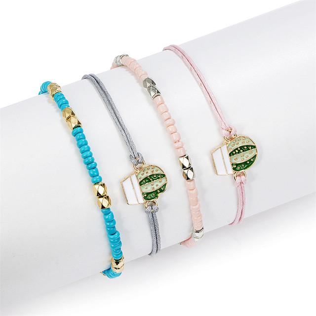 Colorful Cactus Bracelet Set
