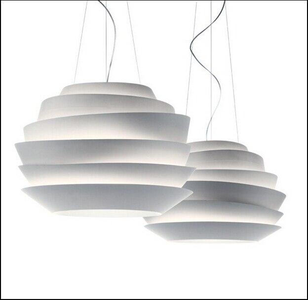 Modern Home Decoration Foscarini Le Soleil Wave Pendant Light White Rose Pendant Lamp E27 Fixtures Light AC90 265V Free Shipping