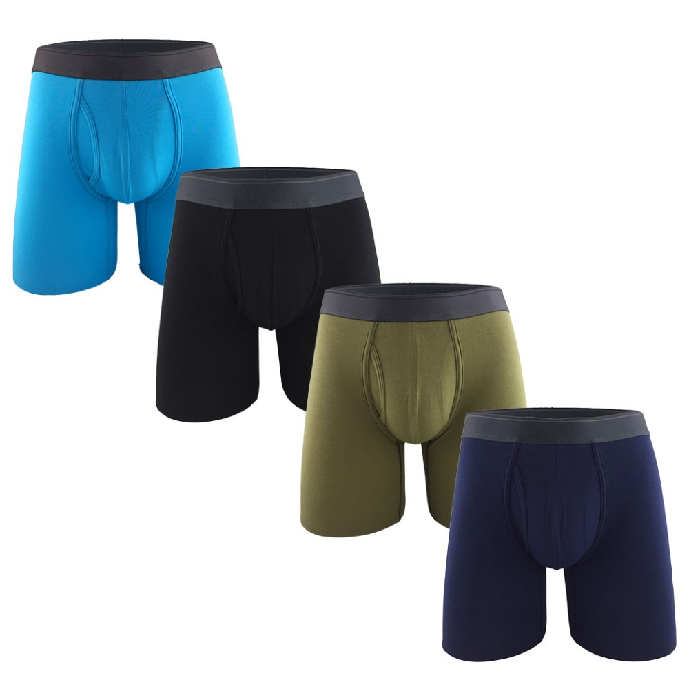 aa249c1ed31f4a 4Pcs Colorful Cotton Men's Boxer Shorts Long Leg Boxer Underwear Plus Size  Stretchy Underpants Sexy Comfortable Calzoncillos ~ Best Deal May 2019