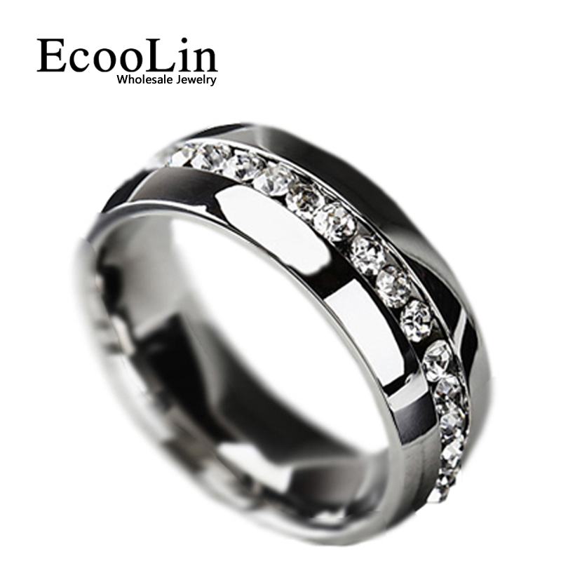Clic Women Engagement Wedding Ring For Woman Cubic Zirconia Eternity Stainless Steel Rings Fashion
