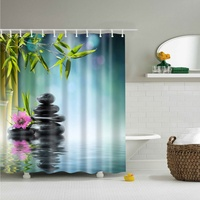 Scene Version Multi styles 3D HD Digital Printed Shower Curtains Waterproof Moisture proof Bathroom Curtains Case