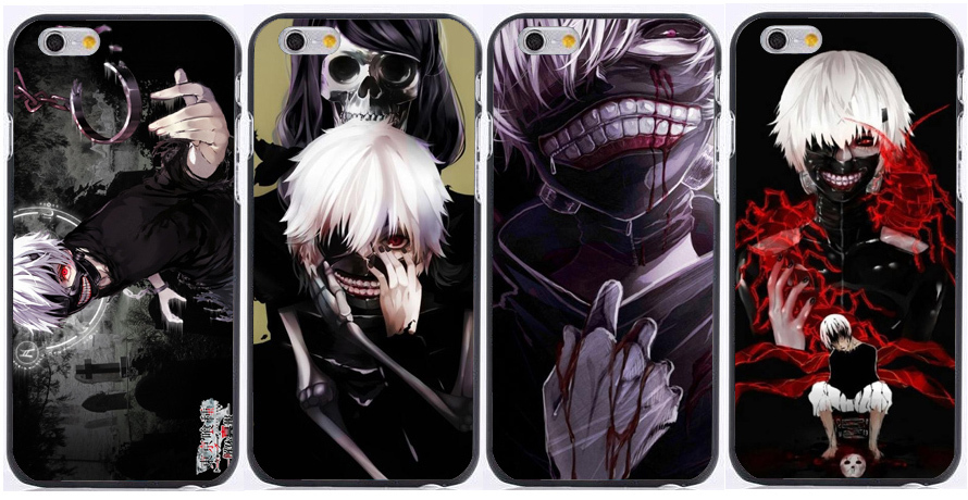 Cartoon Tokyo Ghoul design print plastic hard phone cases for iphone 6 case 6plus 5 5s 5c 4s for samsung s6